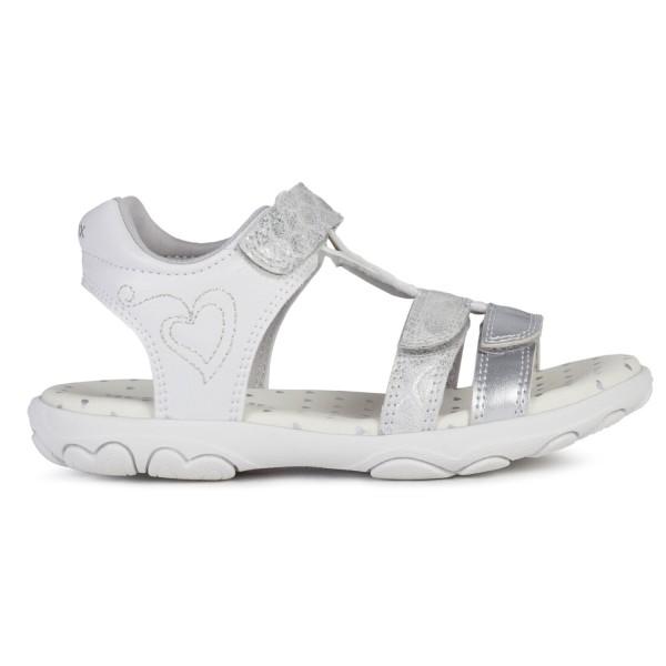 Geox Sandal Cuore J0290B-00454/C0434 Silber/Weiß