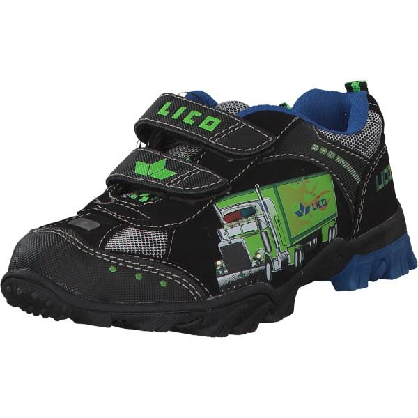 Geka Truck V Blinky Kinder Sneaker 300196 schwarz