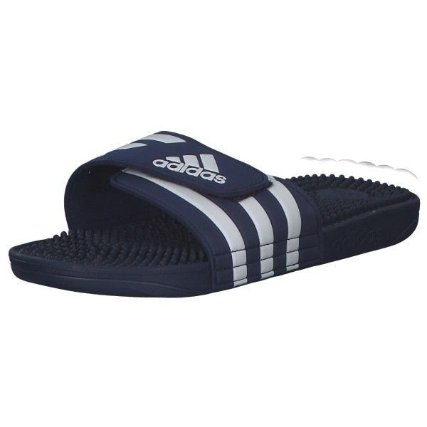 Adidas Adissage Unisex Sandalen F35579/000 Blau Weiß