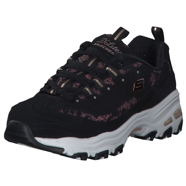 Skechers d Lites Damen Sneaker 149099 Black Rose Gold